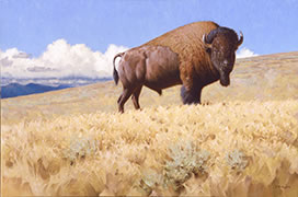 Icon, painting of bison