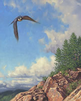 Out of the Blue peregrin falcon painting